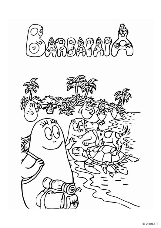 Coloring page vacation together