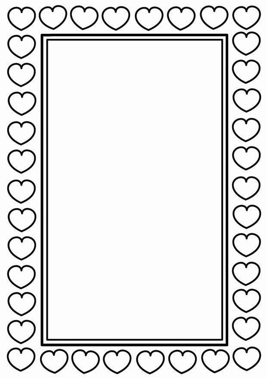 Coloring page Valentine frame