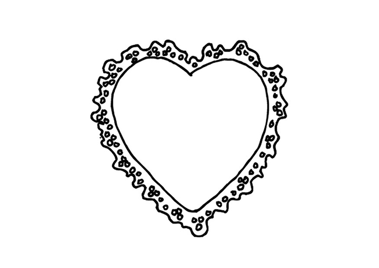 Coloring page valentine heart