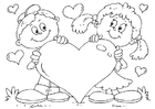 Coloring pages Valentine heart