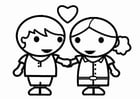 Coloring pages Valentine's Day to be in love