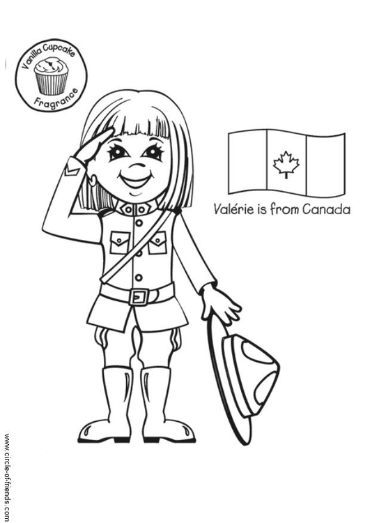 Coloring page Valérie from Canada