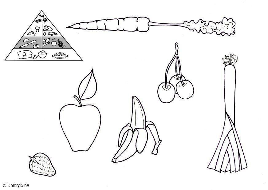 Coloring Page Vegetables And Fruit Free Printable Coloring Pages Img 5675