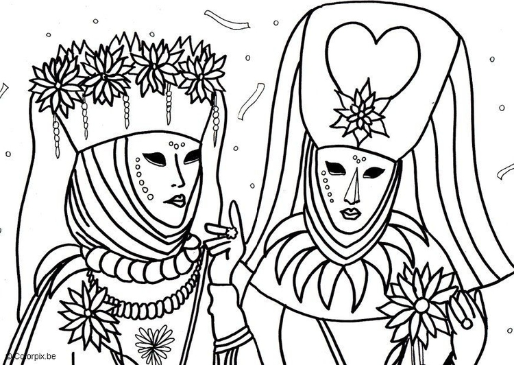 Coloring page Venice Carnival
