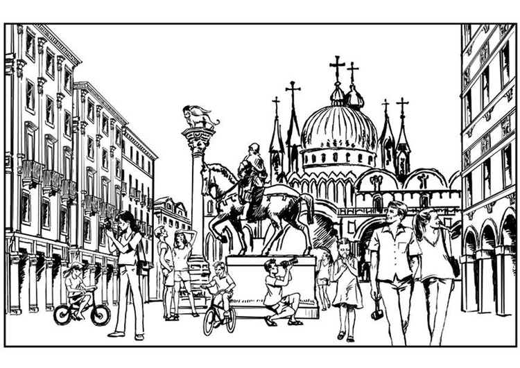 Coloring page Venice, Italy