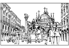 Coloring pages Venice