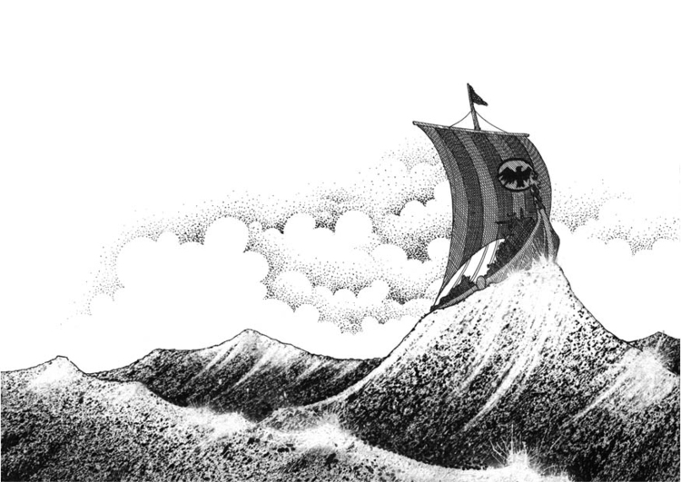 Coloring page Viking ship