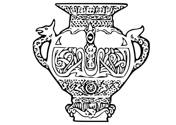 Coloring page Viking Vase