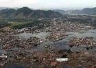 Photo village after tsunami