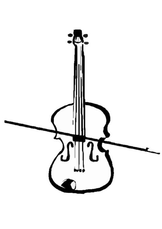 Coloring page violin img 8712