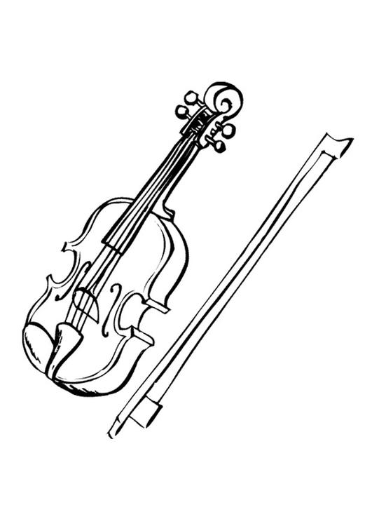 Coloring page violin img 9594