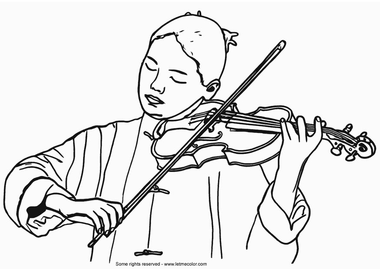 Coloring page violinist