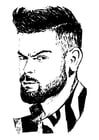 Coloring pages Virat Kohli