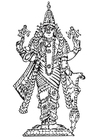 Coloring page Vishnu