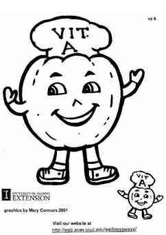 Coloring page Vitamin A