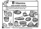 Coloring pages Vitamin B in food