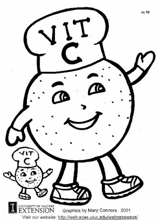 vitamin coloring pages - photo#12