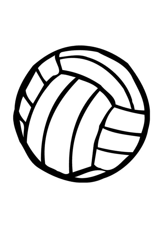 Coloring page volleyball