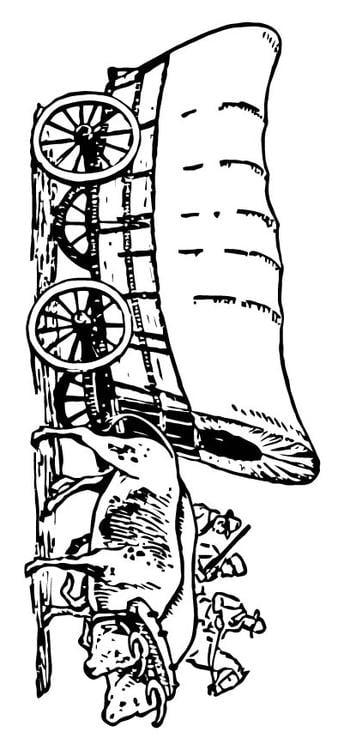 Coloring page Wagon - img 15714.
