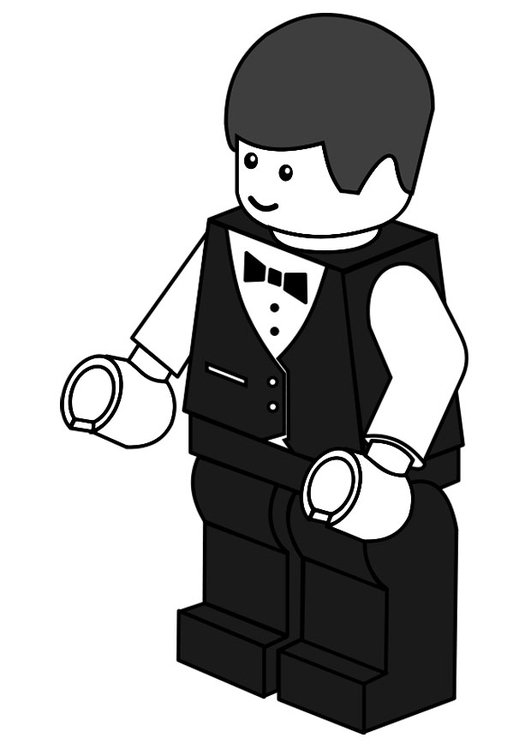 Coloring page waiter