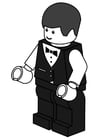 Coloring pages waiter