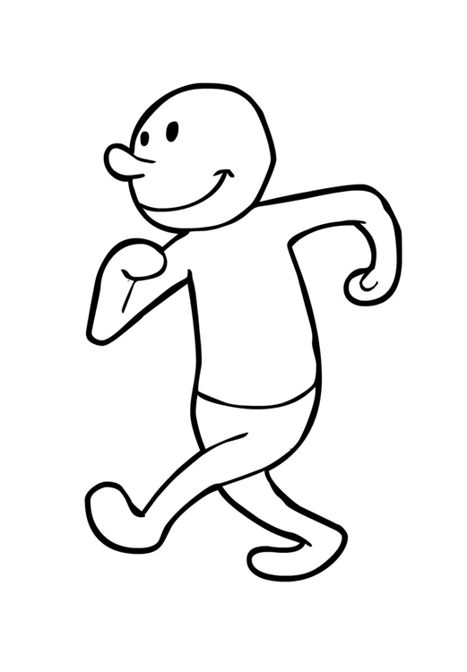 Coloring page Walking (2)