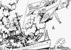 Coloring page War at Sea
