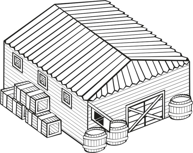 Coloring page Warehouse