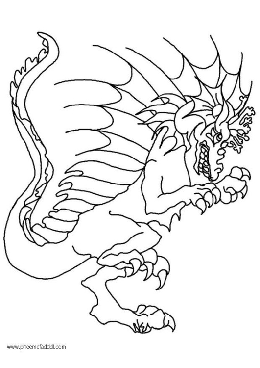 Coloring page Wart, the dragon