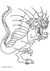 Coloring pages Wart, the dragon