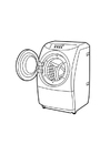 Coloring page washing machine