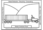 Coloring page waste container truck