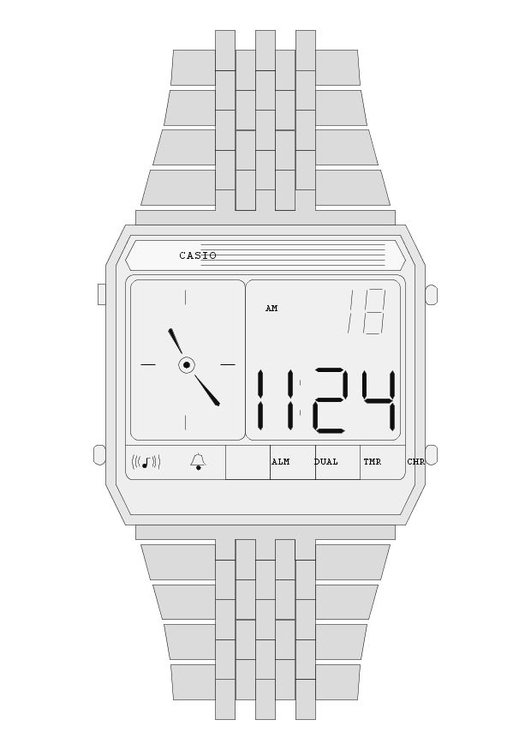 Coloring page watch