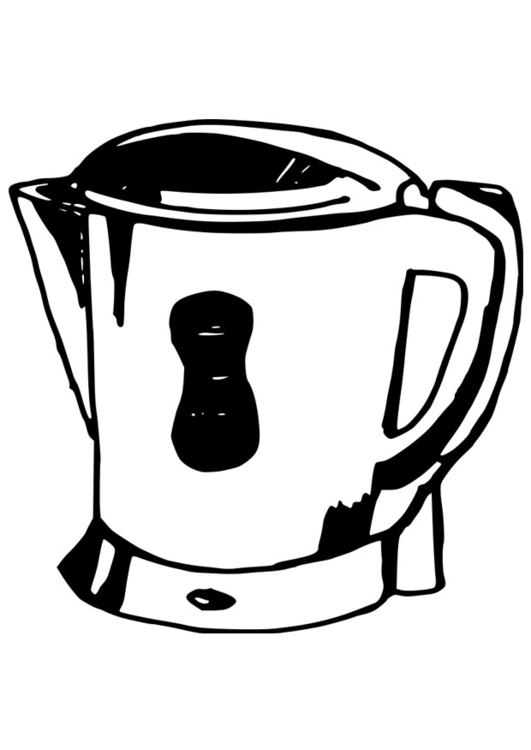 Coloring page water cooker