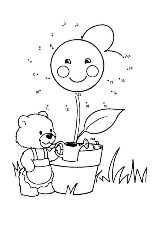 Coloring page water