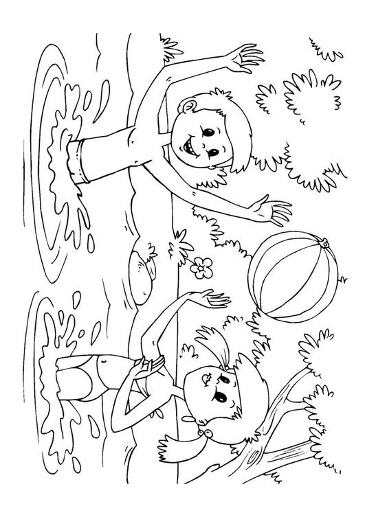 water fun coloring pages - photo#8