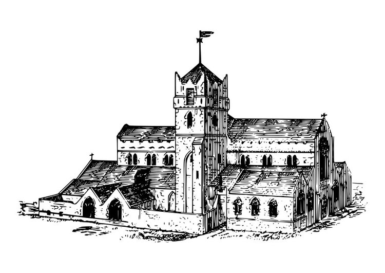 Coloring page Waterford Cathedral