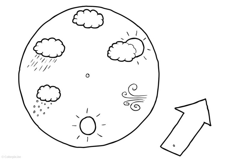 Coloring page Weather calendar