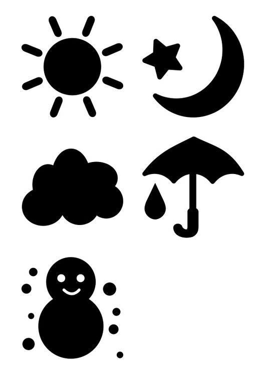 Coloring page weather pictograms