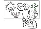 Coloring pages weather