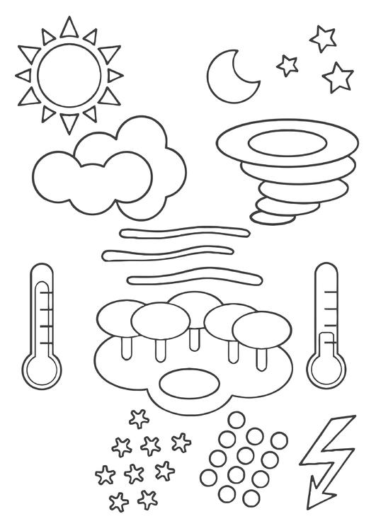 Coloring Page Weather Symbols Img 22443