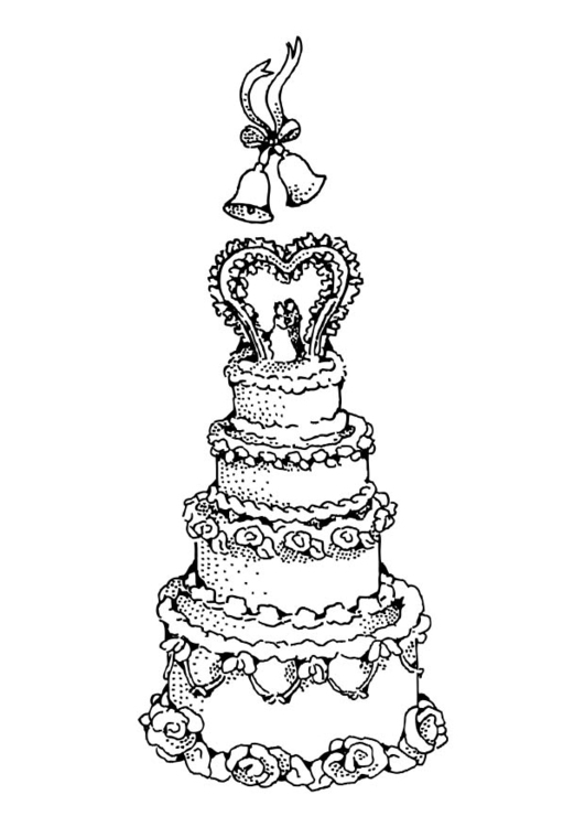 coloring page wedding cake free printable coloring pages