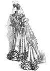 Coloring pages Wedding Dress 1906