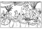 Coloring pages wedding party