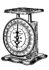 Coloring page weighing scales