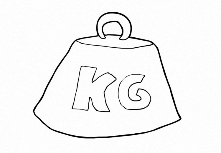 Coloring page Weight