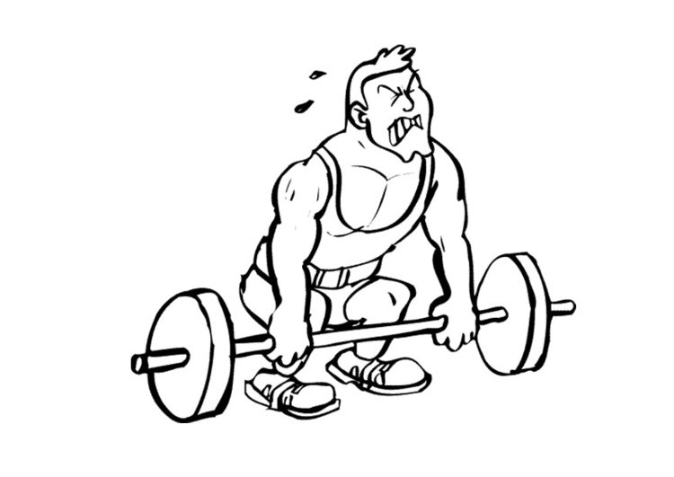 Coloring page weightlifter