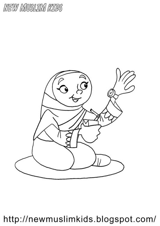 Coloring page welcome Ramadan