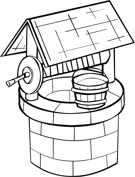 Coloring page Well - img 16189.