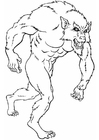Coloring pages werewolf